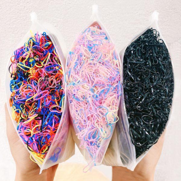 Silikonová sada barevných gumiček - 1000 ks