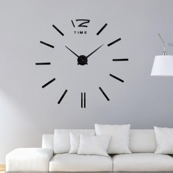 Velké nástěnné 3D dekorativní hodiny