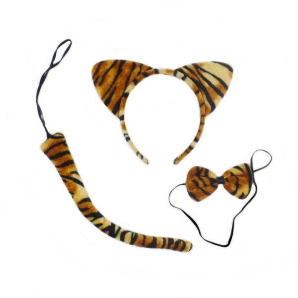 Sada tygr, čelenka, motýlek a ocas