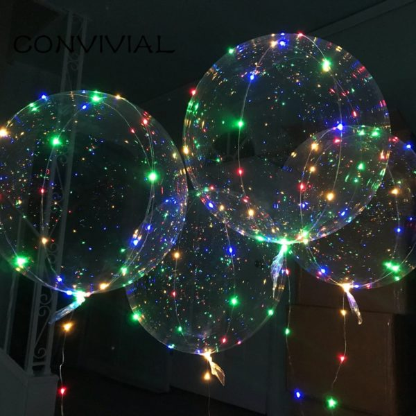 LED svítící čirý balonek