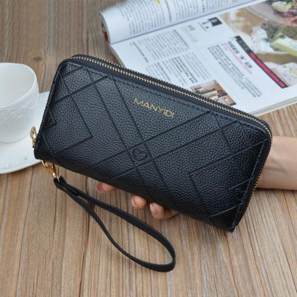 Luxusní dámská peněženka s dvojitým zipem