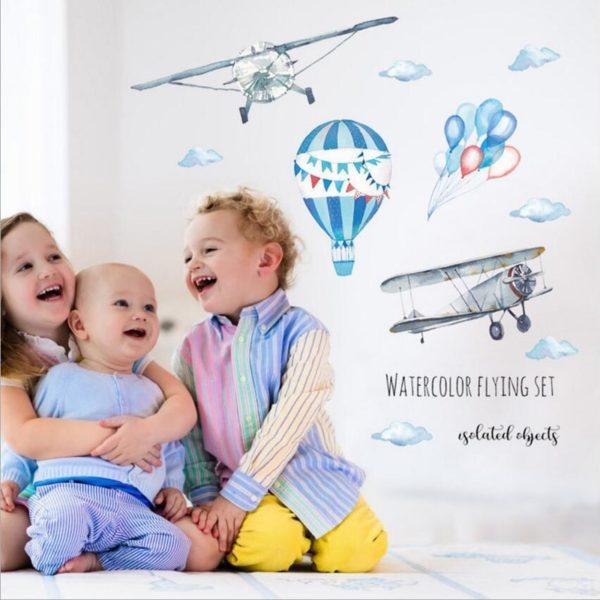 Nálepka Letadla na zeď do dětského pokoje