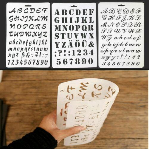 Šablona s písmeny a číslicemi