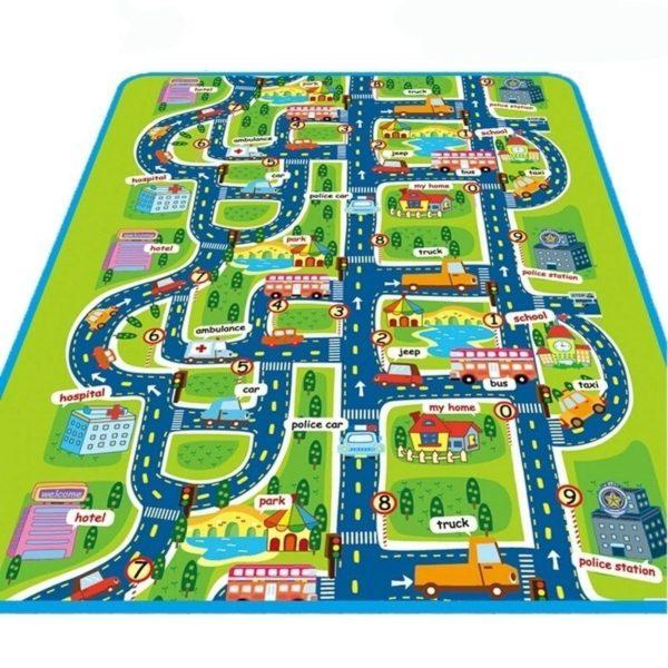 Dětský hrací koberec - silnice