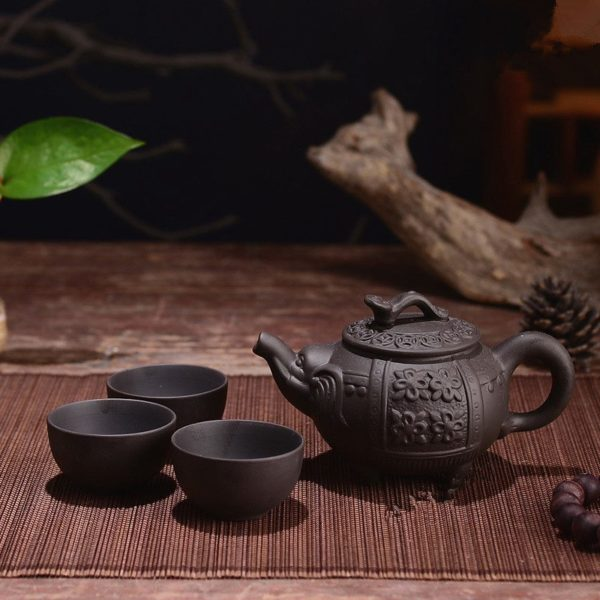 Tradiční čínská čajová sada - 4 ks