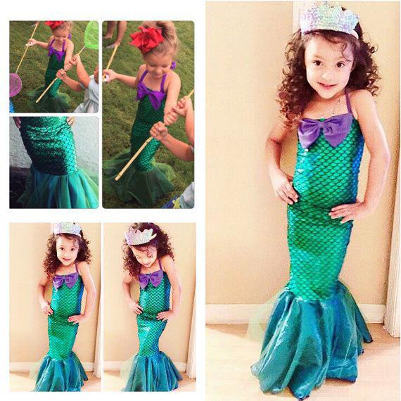Dětský kostým mořské víly