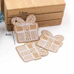 Stylové papírové štítky s vánočními motivy