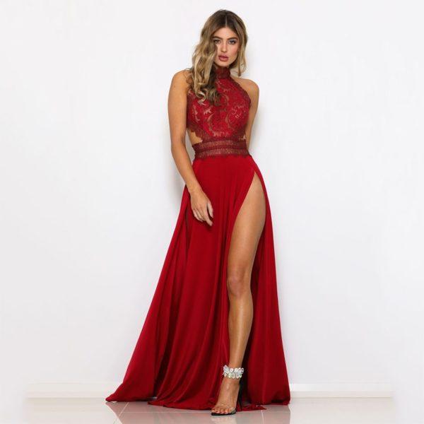 Luxusní večerní šaty s krajkou