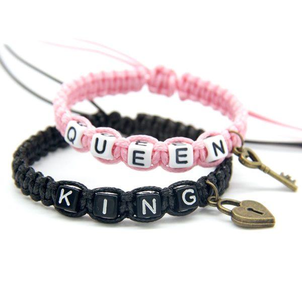 Párové náramky King & Queen