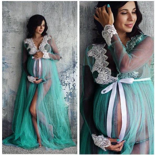 Těhotenská dlouhá elegantní košilka