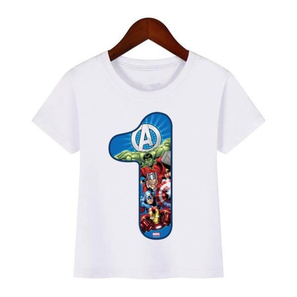 Chlapecké tričko Avengers s věkem