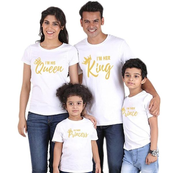 Rodinné originální tričko s korunou