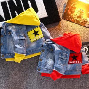 Dětská stylová džínsová bunda se všitou mikinou Trey
