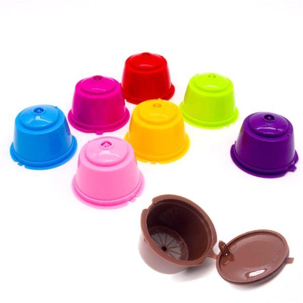 Plnitelné kapsle do kávovaru - různé barvy