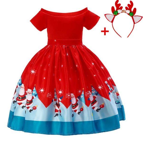 Dívčí šaty s vánočními motivy