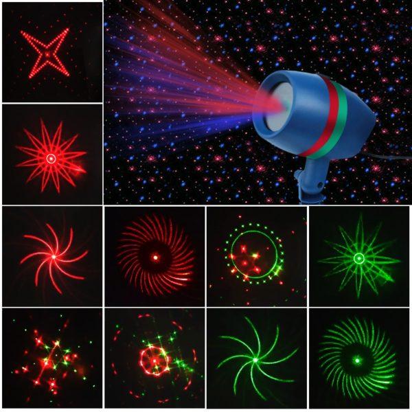 Laserový projektor na vnitřní a venkovní použití