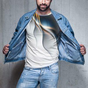 Trendy pánské tričko s 3D potiskem