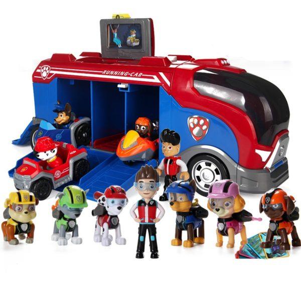 Tlapková patrola figurky a automobil