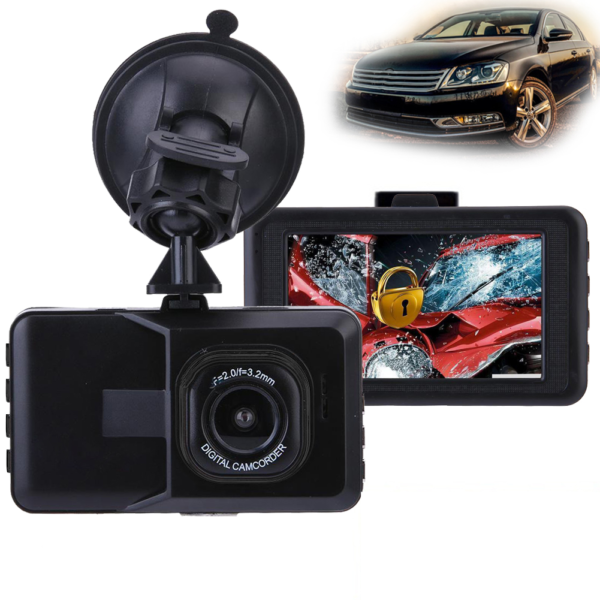 Full HD kamera do auta - černá