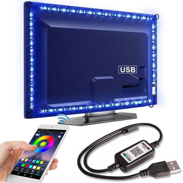 Bluetooth RGB podsvícení za televizi - LED pásky