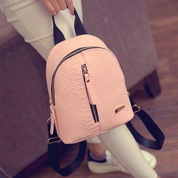 Dámský módní koženkový mini batoh