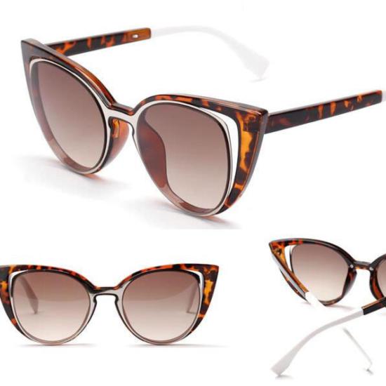 Luxusní dámské sluneční brýle ve tvaru kočičích očí
