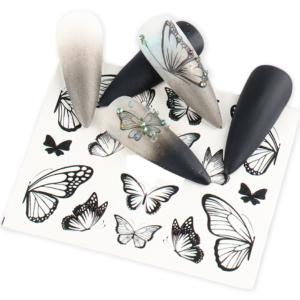 Nálepky na nehty s motýlkem