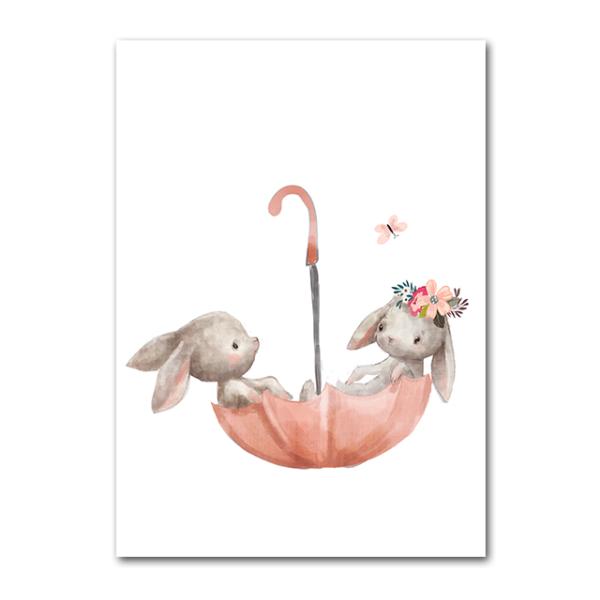 Roztomilá nálepka králíčka na zeď