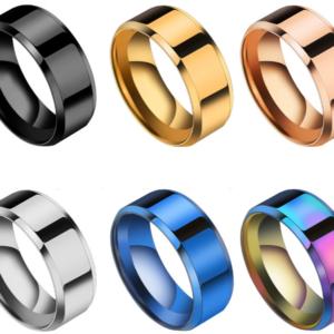 Titanový nerezový prsten pro muže a ženy