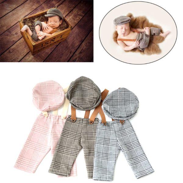 Sada novorezeneckých kalhot a čepice na focení - 4 varianty