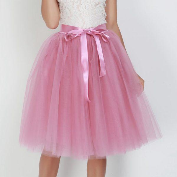 Dámská tylová Tutu sukně s mašlí