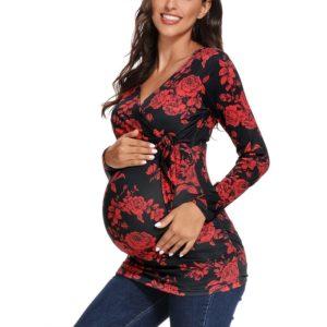Krásné těhotenské triko s mašlí