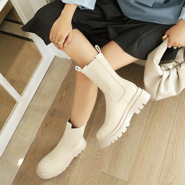 Dámské jarní boty Chelsea