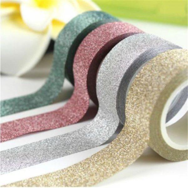 Třpytivé dekorační lepící pásky