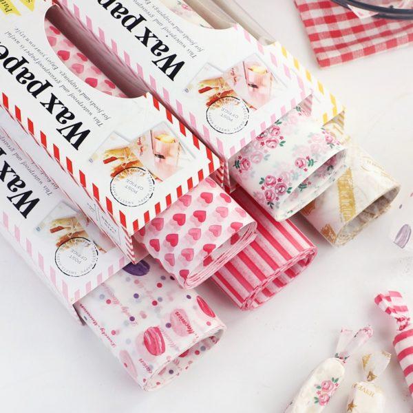 Ozdobné papíry na balení potravina
