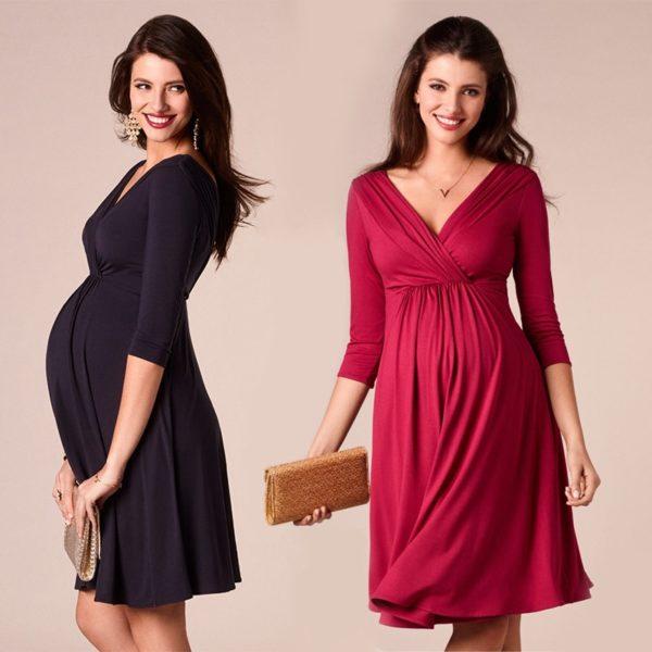 Nádherné elegantní těhotenské šaty