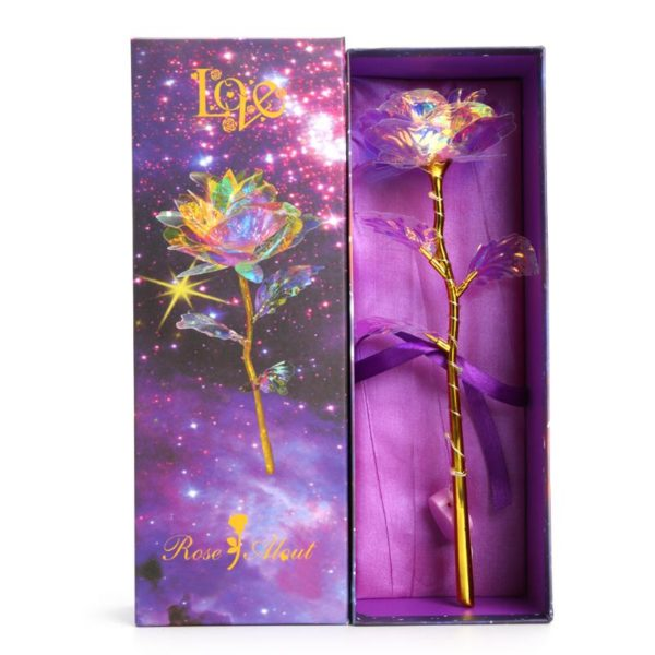 Křišťálová růže - Valentýnský dárek