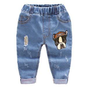 Stylové džíny s obrázkem pejska