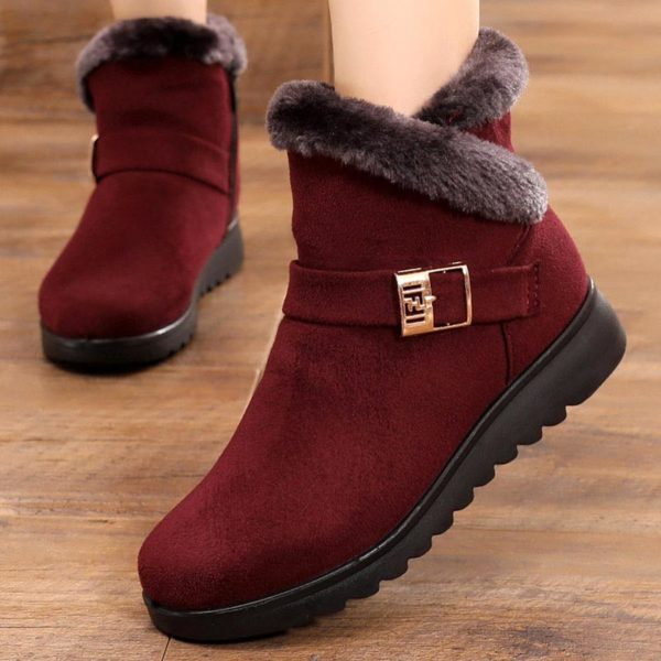 Dámské zimní boty na platformě