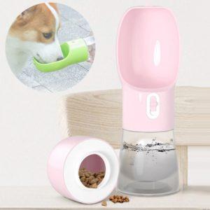 Přenosná láhev na vodu a granule pro domácí mazlíčky