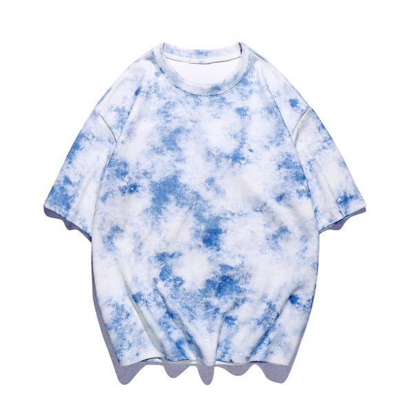 Pánské trendy batikované tričko s krátkým rukávem