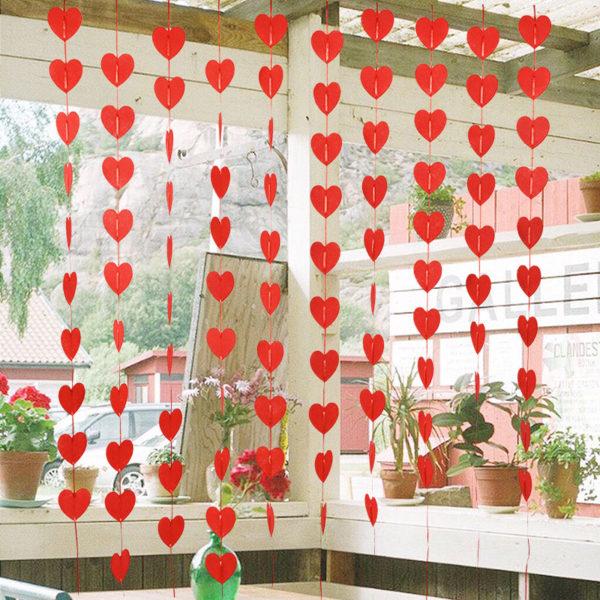 Valentýnská závěsná srdce - dekorace