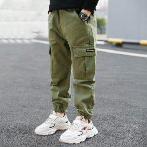 Jarní kalhoty s kapsami