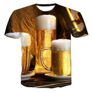 Pánské 3D tričko s potiskem piva