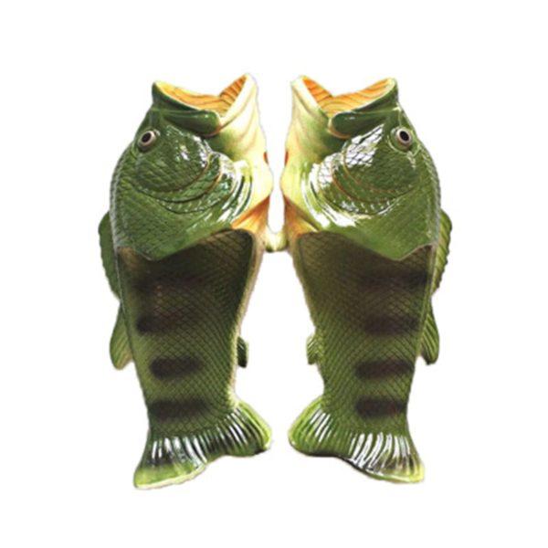 Originální pantofle ve tvaru ryby