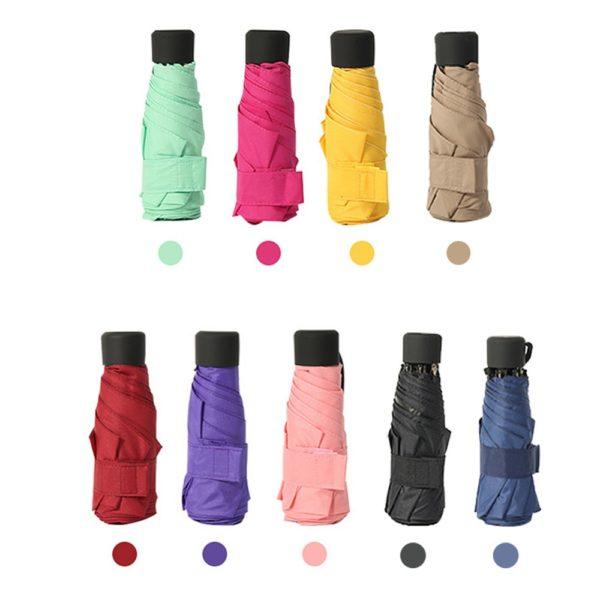 Praktický mini deštník do kabelky v různých barvách