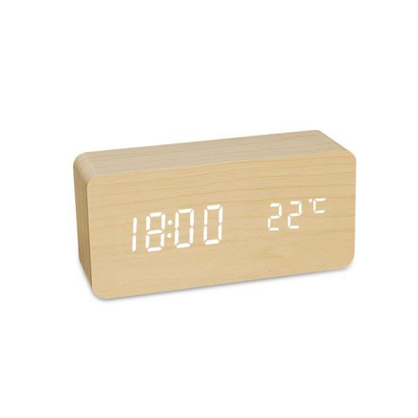 Designové multifunkční hodiny (ve tvaru cihly, se zaoblenými hranami)