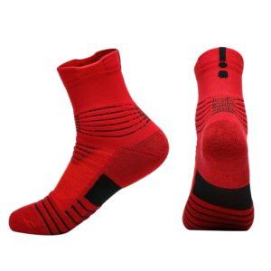 Běžecké vysoké bavlněné protiskluzové ponožky