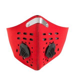 Cyklistická obličejová maska - protiprachová maska na obličej s dýchacím ventilem