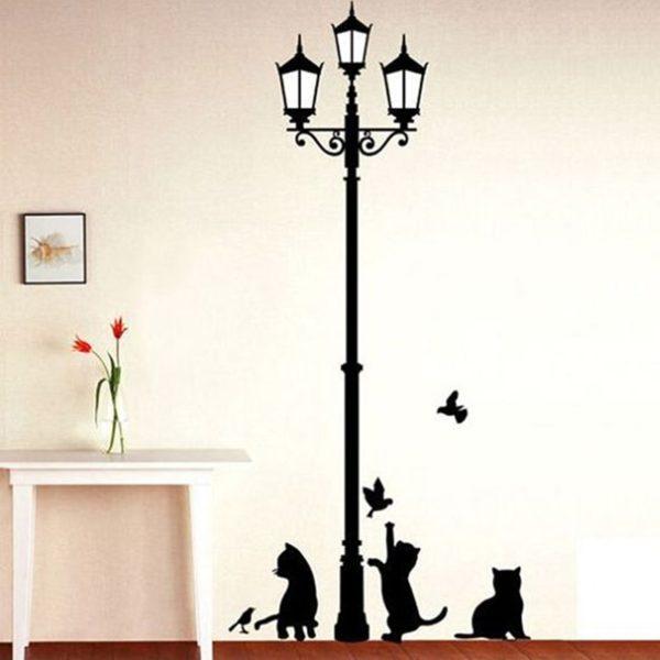 Dekorativní nálepka na zeď Cats and Birds